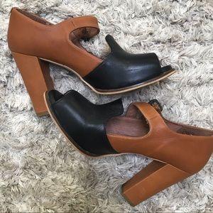 ANTHROPOLOGIE genuine leather heels